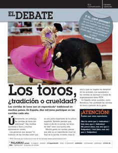 Running of the Bulls (Corrida de Toros) 7th/8th graders' extension activity | One Year in Spanish