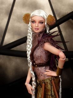 OOAK Numina commission Devon sculpt.  In this photo wearing all Numina pieces, wig by Anthony in Hawaii.