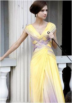 Angelica Woven Purple And Yellow Chiffon Women's Evening Dresses Beautiful Gowns, Beautiful Outfits, Gorgeous Dress, Traje Black Tie, Style Haute Couture, Women's Evening Dresses, Dresses Dresses, Look Fashion, Fashion Styles