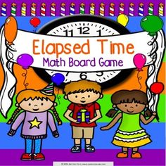Elapsed Time: Elapsed time game contains 30 WORD PROBLEM elapsed time game cards and a game board to help students practice solving elapsed time problems within time intervals of 1 hour (3.MD.A.1). This game works great as a pair/group activity, or for use in math centers.