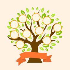 Family Tree Poster, Family Tree Frame, Tree Templates, Design Templates, Family Tree Designs, Tree Clipart, Family Drawing, Paper Wall Art, Tree Illustration