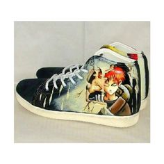 GAARA ZAPATILLAS, DISPONIBLES EN WALLMART! aabrime_elmuerto ❤ liked on Polyvore featuring naruto and shoes