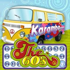 """Karamba.com offers a very fun and well designed video bingo in """"The 60's"""", a game with very well achieved reminiscences to the 60's flower power culture. But let's first take a look at the general aspects of the game as a video bingo game.    In The 60's you can play with one to four cards of 15 cells each, formed by three rows and five columns. You may choose among six different card prices between $0.25 and $10."""
