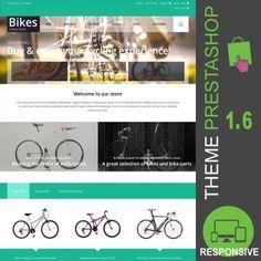 Thème PrestaShop 1.6 responsive Bootstrap pour site en ligne destiné à la vente de vélos : roues, jantes, freins, selles, guidons, vêtements, chaussures,…