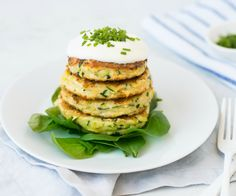 For a healthy hot lunch, these Gluten Free Zucchini And Parmesan Fritters need only a few key ingredients. 272 calories per serve.