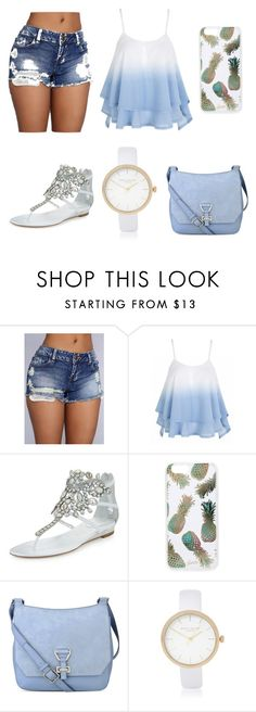 """"""""""" by louraraujo13 ❤ liked on Polyvore featuring René Caovilla, Sonix, Nine West and River Island"""
