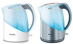 Featuring a push-button lid release and base for easy filling and pouring, this handy kettle filters and boils water simultaneously Hard Water, Kettle, Filters, Modern Design, Base, Button, Teapot, Contemporary Design