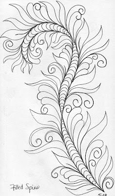 Here are a few designs from my sketch book :           Vine with a Filled Spine         Here is how  I make a filled spine design:      ...