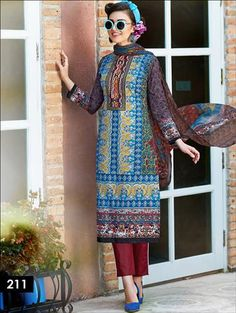 Latest Salwar Suits, Indian Suits, Daily Wear, Pakistani, Royal Blue, Chiffon, How To Wear, Prints, Cotton