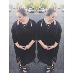 #OOTD... Tank: Rue 21, Kimono: Cotton On, Jeans: Torrid, Shoes: Target, Jewelry: Rue 21 @plusmodelmag @fullfigured_fashion @plussizetips