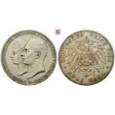 Deutsches Kaiserreich, Mecklenburg-Schwerin, Friedrich Franz IV., 5 Mark 1904, Hochzeit, A, vz-st, J. 87: Friedrich Franz IV.… #coins