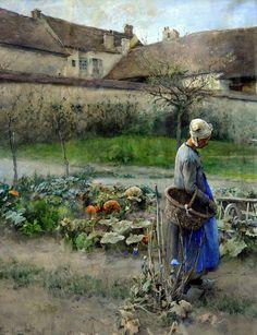 October, Carl Larsson (1882)   Flickr - Photo Sharing!