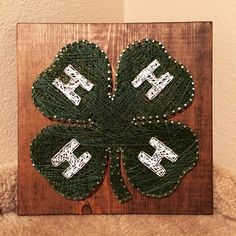 MADE TO ORDER  4-H String Art by StringsbySamantha on Etsy