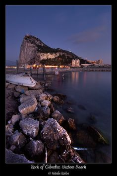 Rock of Gibraltar at Sunset, Gibraltar