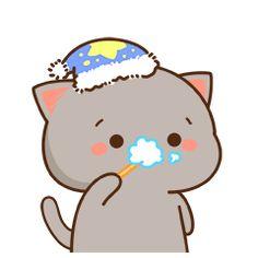Barxa bane Cute Anime Cat, Cute Cat Gif, Funny Cute, Cute Cats, Cute Couple Cartoon, Cute Cartoon Pictures, Cute Love Cartoons, Cute Bear Drawings, Cute Cartoon Drawings