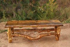 Aspen Log Bench by scottnkandi on Etsy, $350.00
