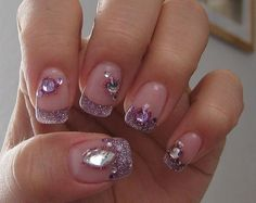 I love the tips. The glitter is cute for a night on the town. But a little too much bling. Wait is there such a thing as too much bling! Wear it. I think I may give it a try just to see if I like it one night. The blonde in the pic.