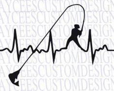 Download Woman Fishing Heartbeat SVG FileGirl Fishing SVG File by ...