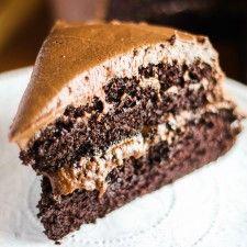 Soft and Fudgy Chocolate Cake @honestandtasty