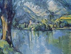 Paul Cézanne (French, Post-Impressionism, 1839–1906): Le Lac d'Annecy, 1896. Oil on canvas, 65 x 81 cm. The Courtauld Institute, London, UK.