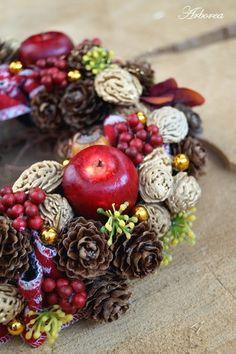 Mały świąteczny wianek na Boże Narodzenie - Arborea-dekoracje - Wieńce adwentowe