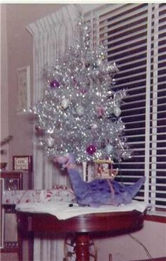 1960 Aluminum Christmas Tree | The aluminum tree was found in many homes in the 1960s. Click to ...