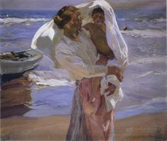 After Bathing, Valencia    Joaquin Sorolla y Bastida