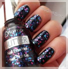 Flormar Glitter ~ Colours of my nails Paws And Claws, Yves Rocher, Nail Arts, Pretty Nails, All The Colors, Best Makeup Products, My Nails, Manicure, Nail Polish