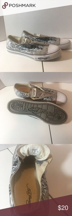 Men's Ed Hardy Slip On Sneakers Size 12 Men's Ed Hardy Slip On Sneakers Size 12. Worn a few times, great condition. Ed Hardy Shoes Sneakers