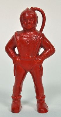 """Vintage 1950's Premier Products Co 3"""" Red Space Man Toy Astronaut Flash Gordon"""