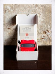 Viewmaster Wedding Invitation.