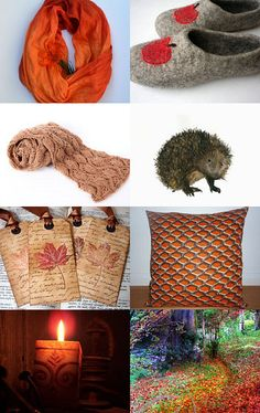 Lovely Etsy Autumn Gifts, I am wow'ed with these colour tones, especially Pumpkin Orange
