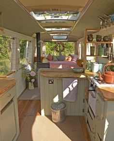 Here are the Tiny House Bus Living Conversion Ideas. This post about Tiny House Bus Living Conversion Ideas was posted  Bus Living, Tiny House Living, Small Living, Minibus, Bus Camper, Cabover Camper, Interior Trailer, Glamping, Camping Con Glamour