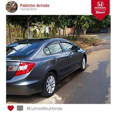 O Civic é mesmo o queridinho dos amantes de Honda. Veja este Civic equipado com vários acessórios do Fabinho Arruda.  Participe você também! Envie a foto do seu Honda. #EuAmoMeuHonda