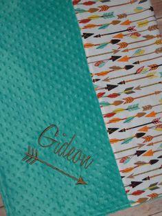 Arrows Blanket Personalized Minky Baby Blanket от peepsboutique