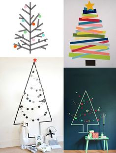 Masking-tape: 15 decorating ideas to copy Clay Christmas Decorations, Diy Christmas Tree, Simple Christmas, Masking Tape, Washi Tape, Cork Crafts, Diy And Crafts, Holiday Crafts, Holiday Decor