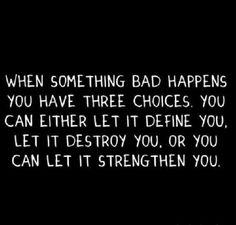 """When Something Bad Happens..."""
