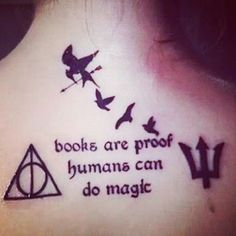 Read 'Em and Weep! 49 Tattoos Inspired by Famous Books ❤ liked on Polyvore featuring tattoos, phrase, quotes, saying and text
