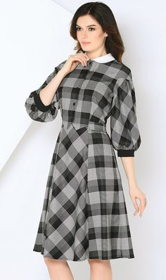 ADZHEDO check dress