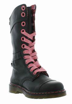 DR Martens Boots Genuine Triumph 1914 W Pink Womens Black Boot Sizes UK 4 8   eBay