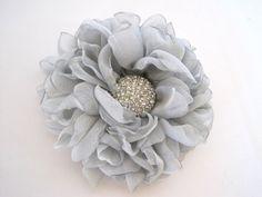Stunning Two Tone Silver Grey Chiffon Bridal by theraggedyrose