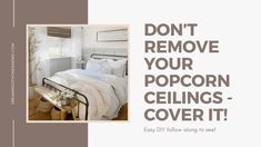 Popcorn ceilings, do you scrape it, hose it or just cover it up? Today I will share all the options and why we chose to do it this way! Covering Popcorn Ceiling, Removing Popcorn Ceiling, Popcorn Ceiling Removal, Stucco Ceiling, Shiplap Ceiling, Ceiling Tiles, Remodeling Mobile Homes, Home Remodeling