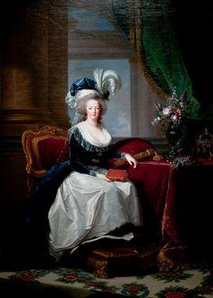 Portrait of Marie Antoinette, Queen of France, Elisabeth Louise Vigee Le Brun, ca 1788