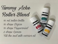 a tummy ache? Here's a roller blend recipe you can use to apply topicaly on your stomach area. Visit our site for more recipes. Essential Oils Upset Stomach, Essential Oil Starter Kit, Essential Oils For Babies, Essential Oils Guide, Essential Oil Diffuser Blends, Young Living Essential Oils, Living Oils, Just In Case, Living Essentials