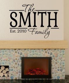Another great find on #zulily! Black Family Personalized Decal #zulilyfinds