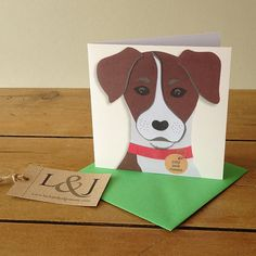 Dog card - jack russell - jack russell terrier - dog lover gift - jack russell dog - pet lover gift - dog owner - pet lover - greeting card