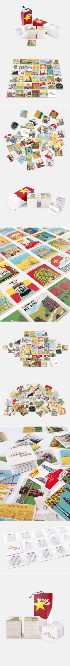 Get To Know The Sights of Vietnam With This Colorful Memory Game — The Dieline | Packaging & Branding Design & Innovation News.
