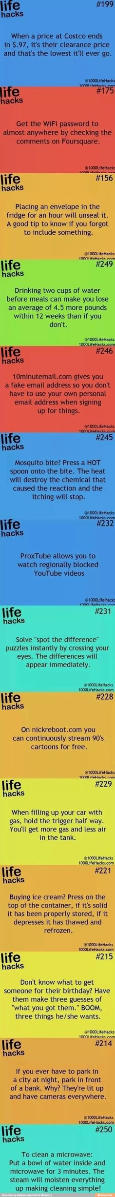 Collection of life hacks