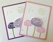 Floral Birthday Card - Floral Congratulations Card - Dreams Card - Wishes Card - All Occasion Card - Set of 2 Greeting Cards