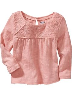 Lace-Yoke Top for Baby Product Image